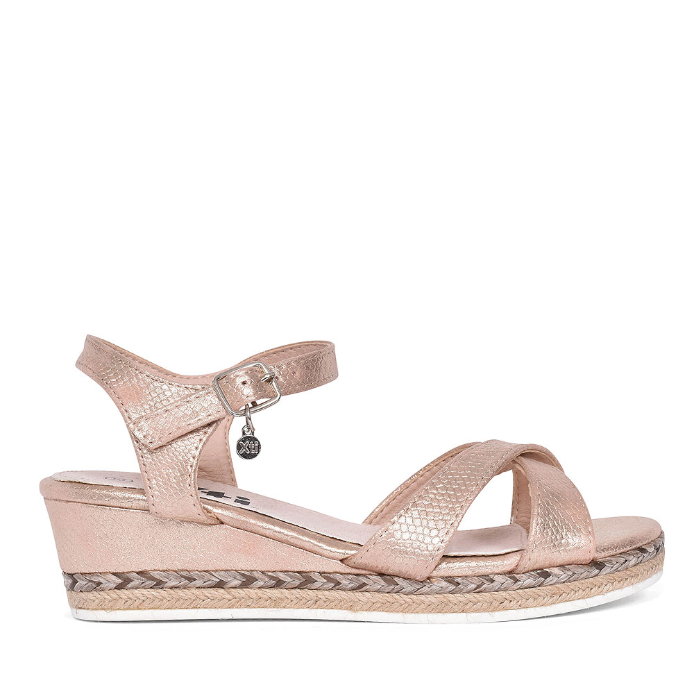 56779 ANKLE STRAP WEDGE SANDAL FOR GIRLS in NUDE