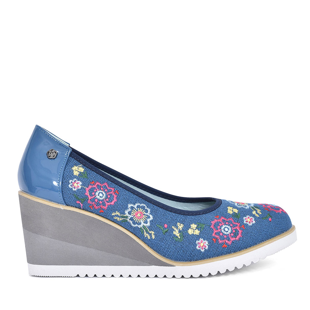 FULFORD ONE CASUAL WEDGE SHOE FOR LADIES in NAVY