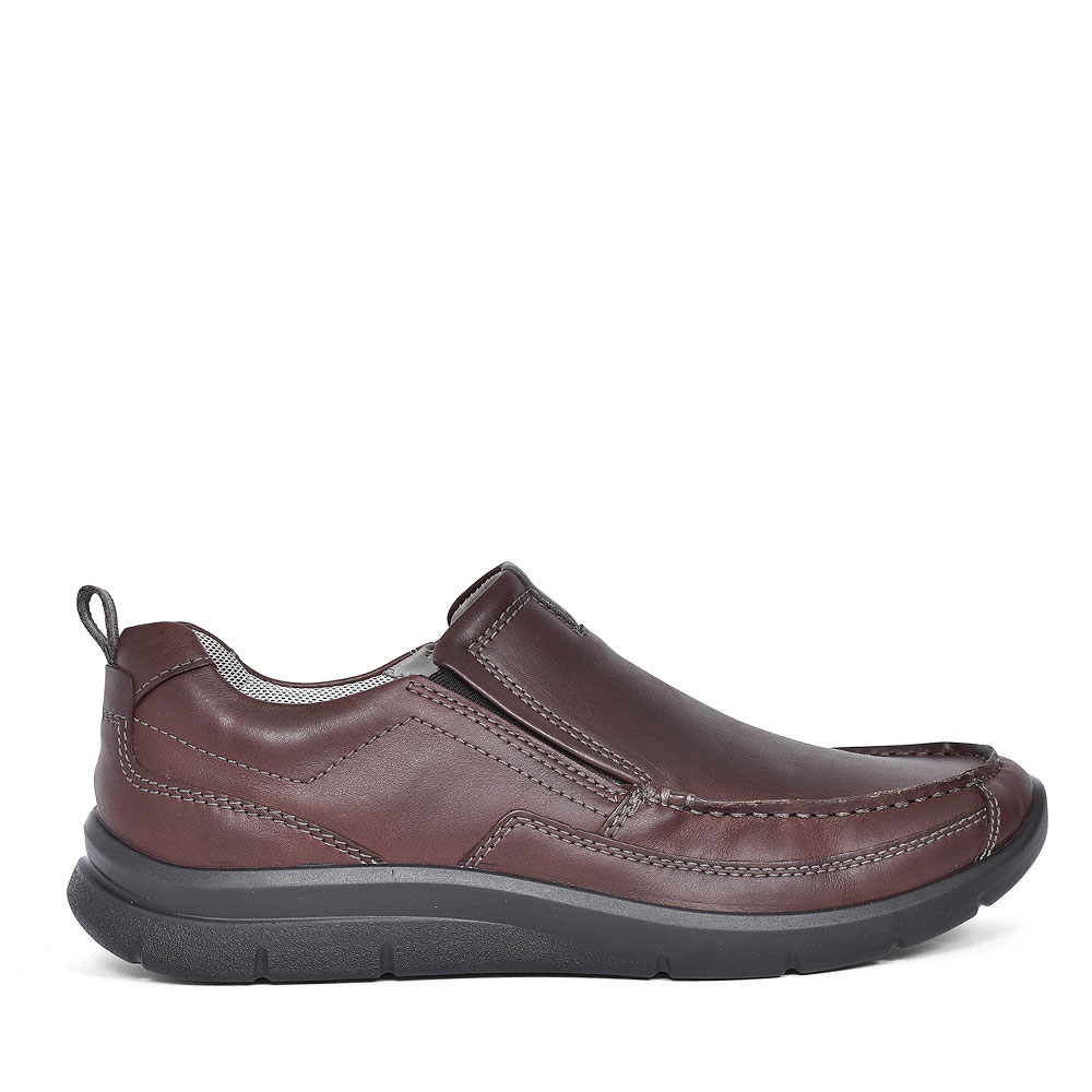 BOOST LEATHER SLIP ON SHOE FOR MEN in BROWN