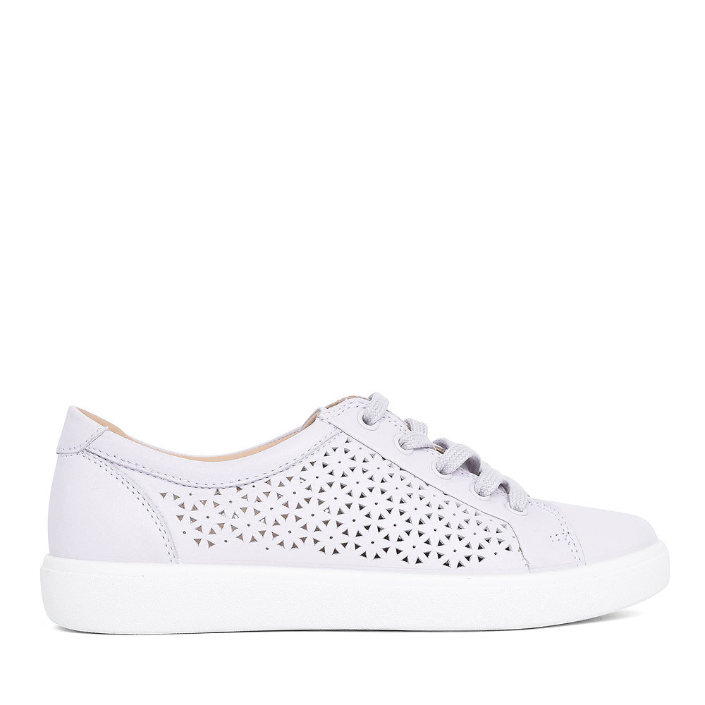 BROOKE LEATHER LACED SHOE FOR LADIES in WHITE