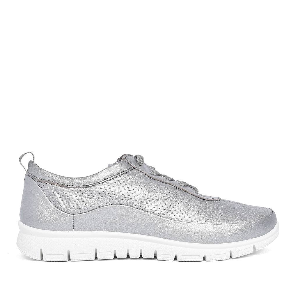 GRAVITY CASUAL LACED TRAINER FOR LADIES in GREY