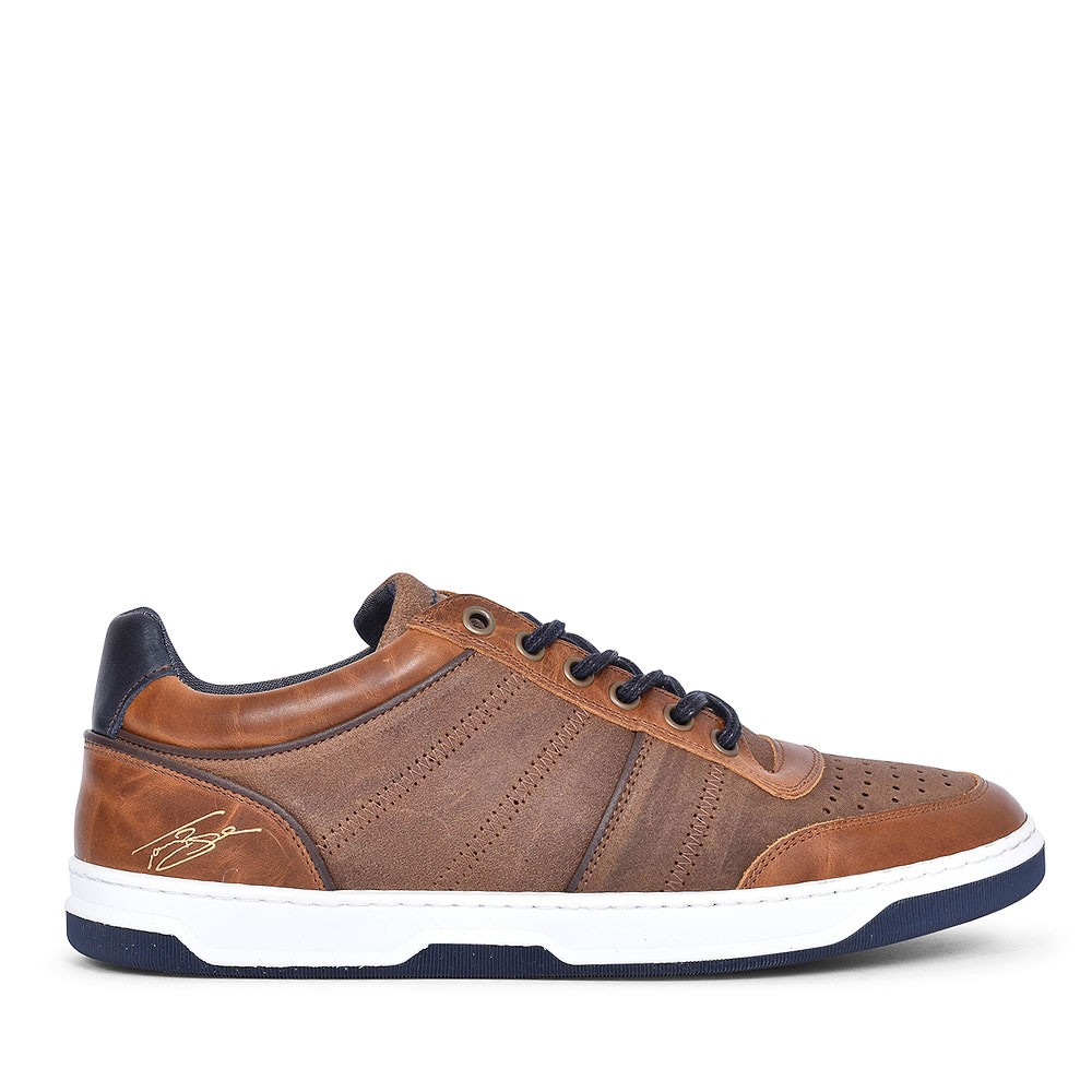 FOLAU CASUAL LACED SHOE FOR MEN in CAMEL