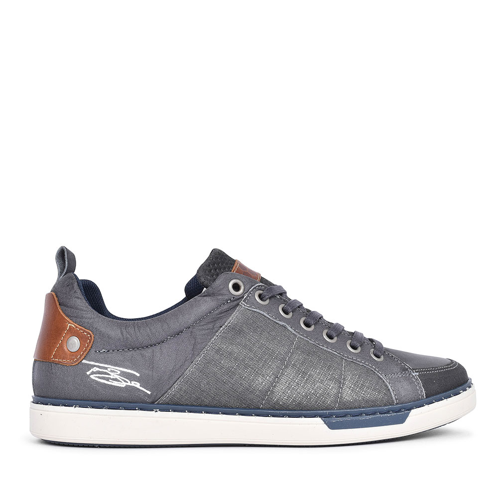 QUINEL CASUAL LACED SHOE FOR MEN in GREY
