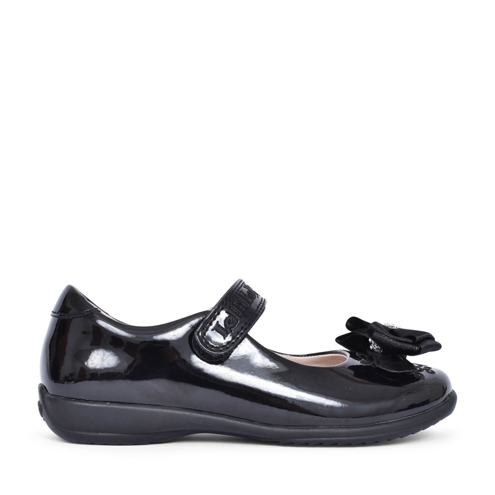 LK8314 ZOE F FIT SHOE FOR GIRLS in BLK PATENT