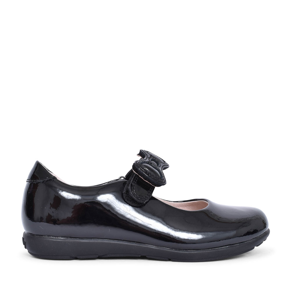 LK8842 COLOURISSIMA G FIT SHOE FOR GIRLS in BLK PATENT