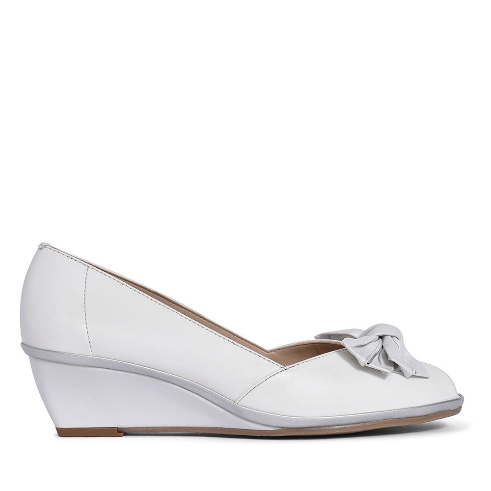 1076020 FLORIDA II SLIP ON WEDGE FOR LADIES in WHITE