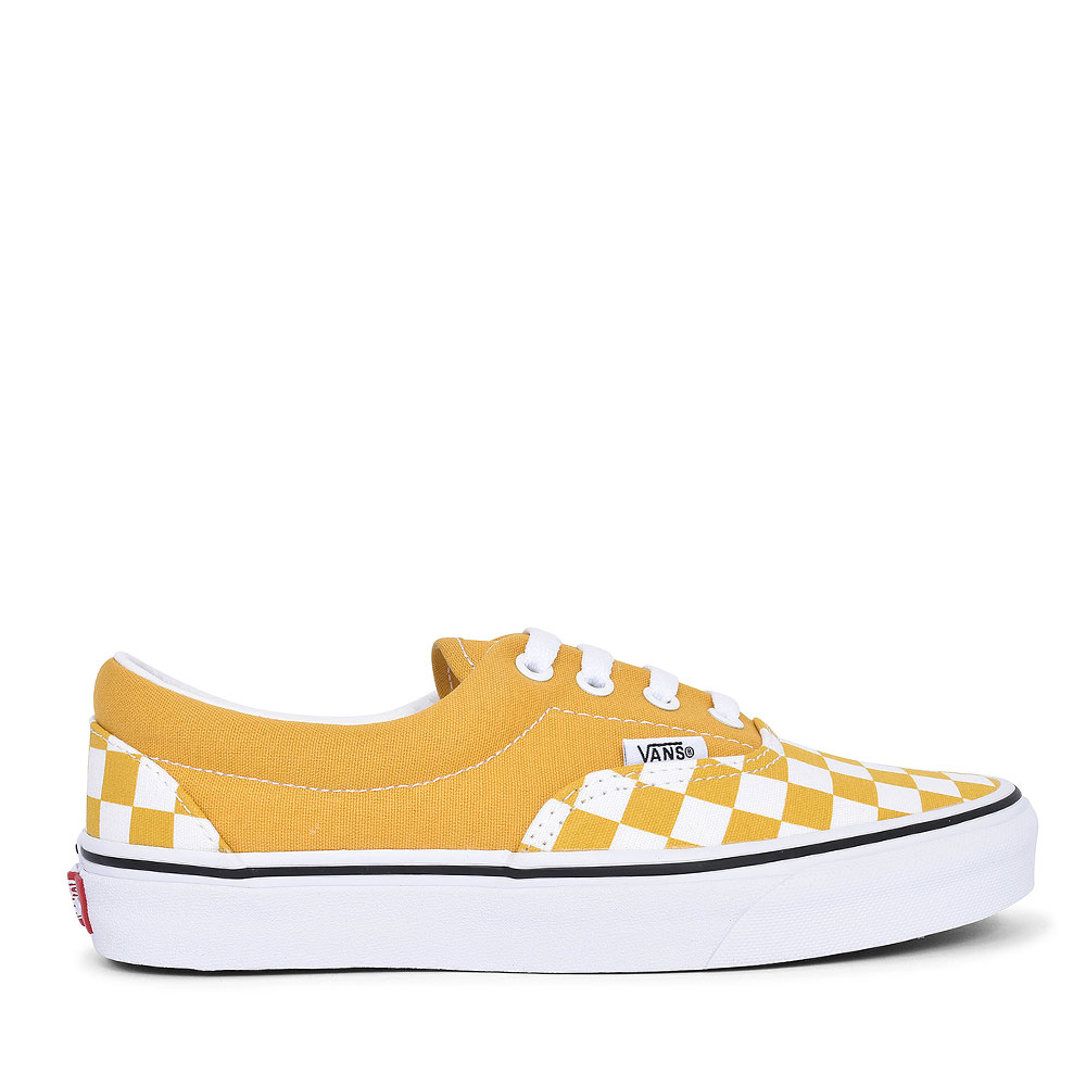 ERA CHECKERBOARD LACED TRAINER FOR LADIES in YELLOW