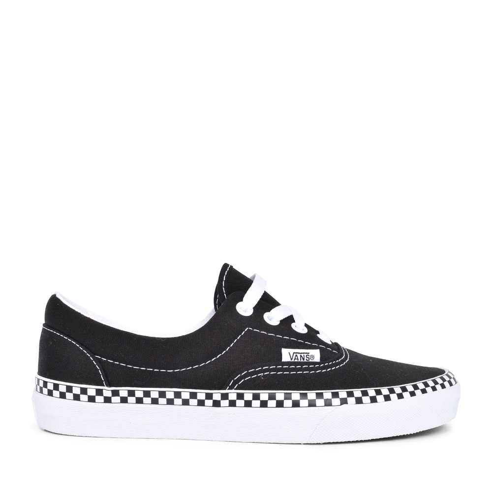 ERA CHECK FOXING LACED TRAINER FOR LADIES in BLACK