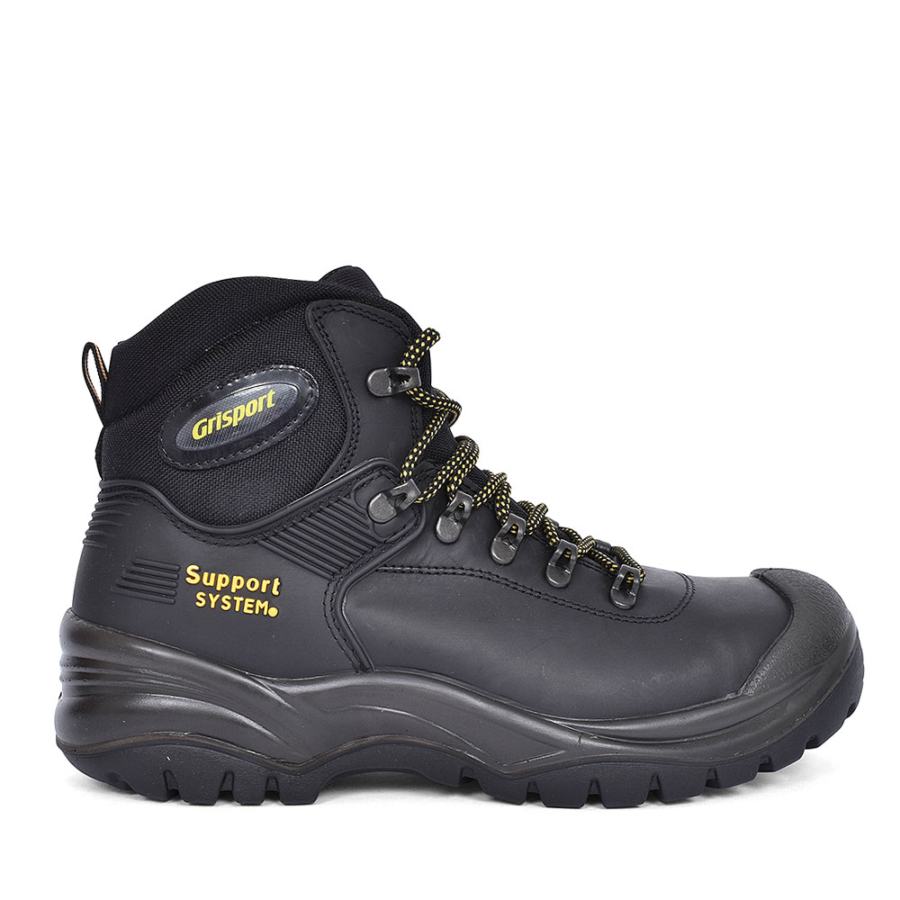 CONTRACTOR LACED SAFETY BOOT FOR MEN in BLACK
