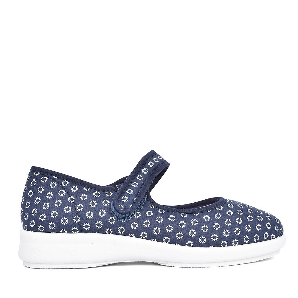 KANSAS EXTRA WIDE 2V MARY JANE SHOE FOR LADIES in NAVY