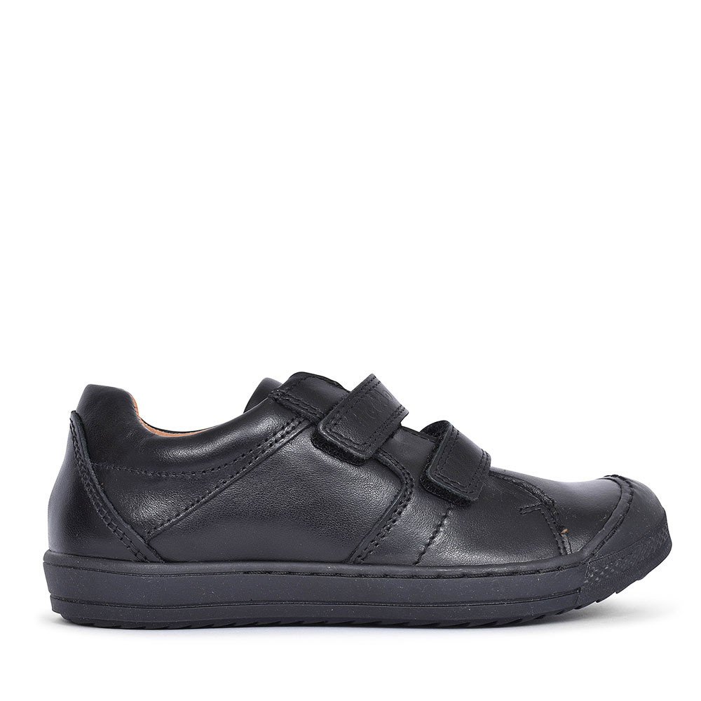 G3130089 LEATHER DOUBLE VELCRO SHOE FOR BOYS in BLK LEATHER