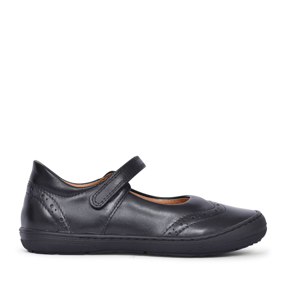 G3140077 LEATHER VELCRO SHOE FOR GIRLS in BLK LEATHER