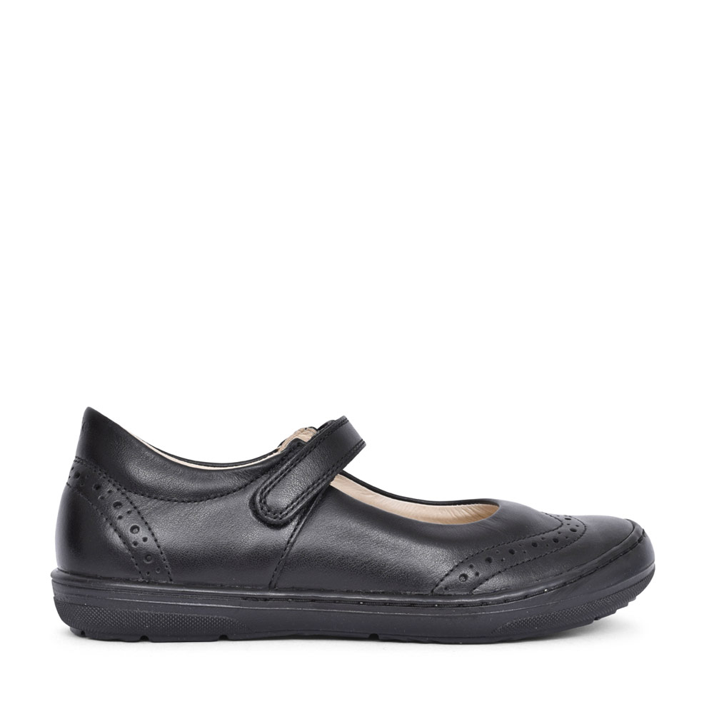 GIRLS G3140077 LEATHER VELCRO SHOE  in BLK LEATHER