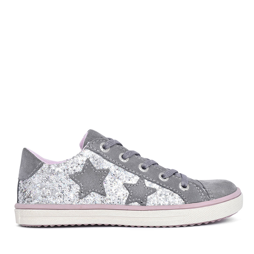 33-13657 LACED SPARKLE SHOE FOR GIRLS in GREY