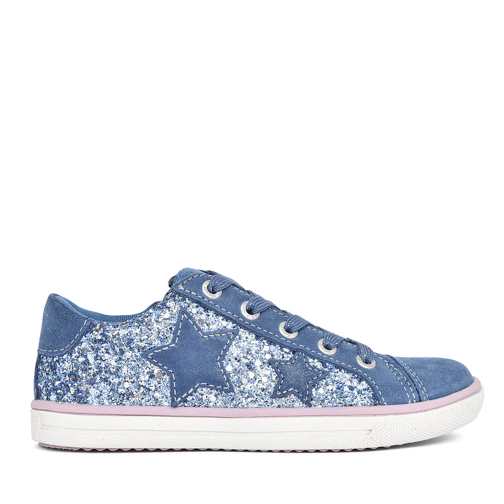 33-13657 LACED SPARKLE SHOE FOR GIRLS in NAVY