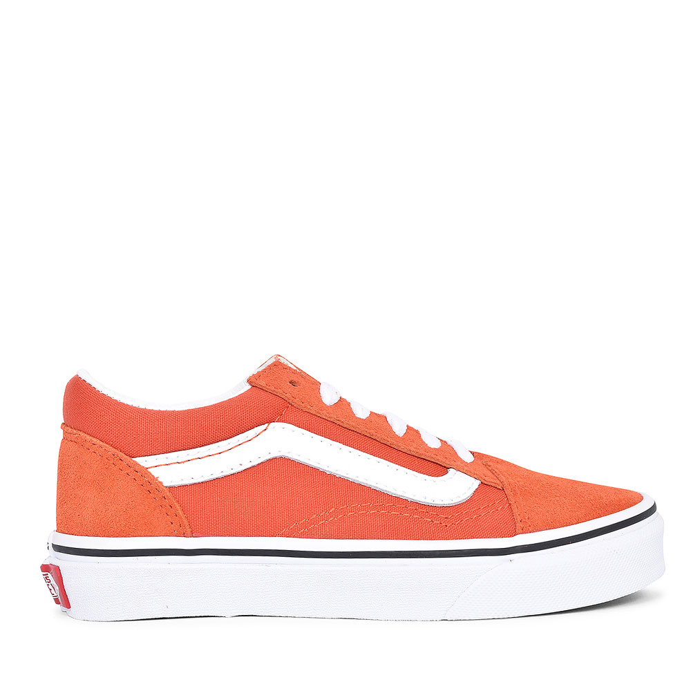 OLD SKOOL CASUAL LACED TRAINER FOR BOYS in ORANGE