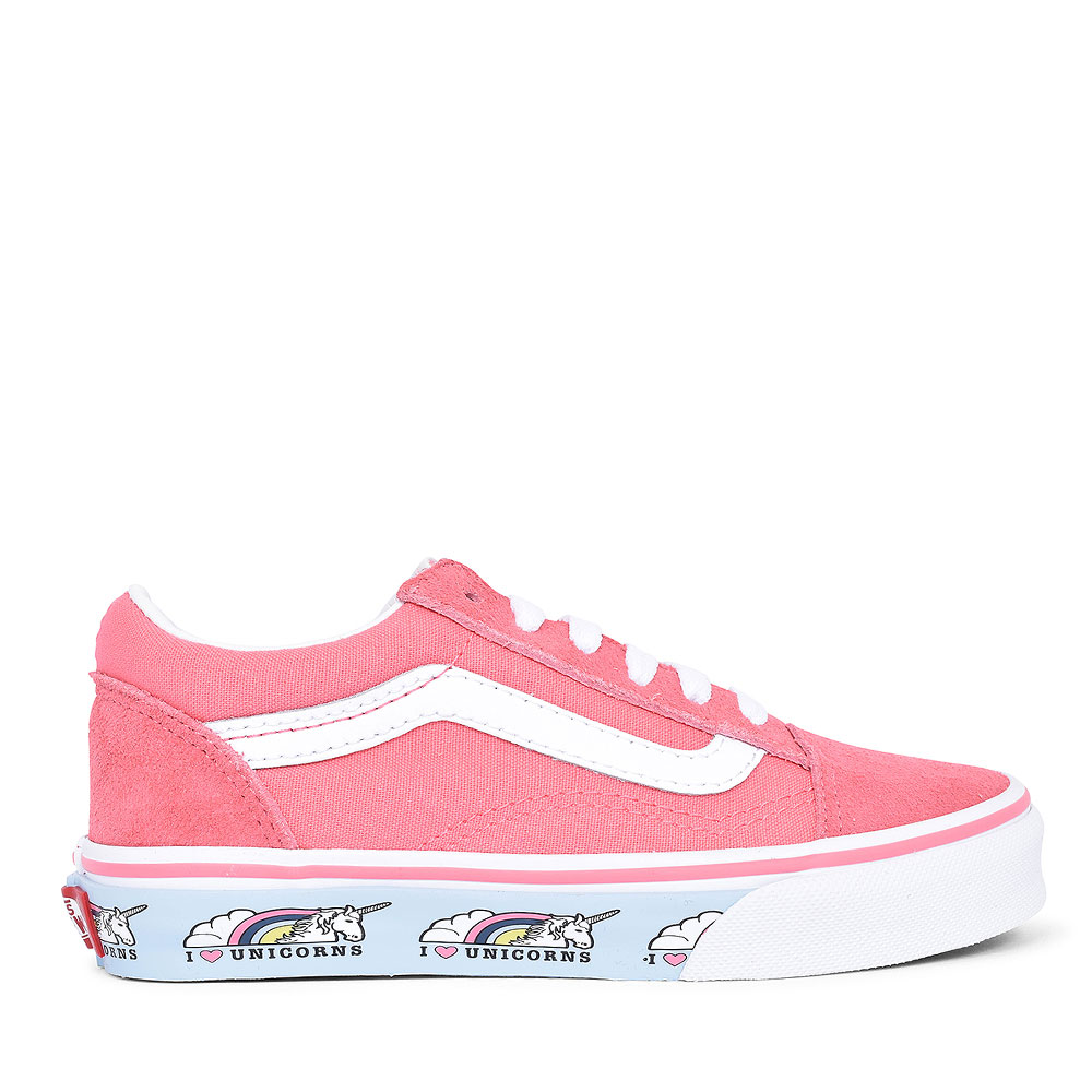 OLD SKOOL UNICORN LACED TRAINER FOR GIRL in PINK