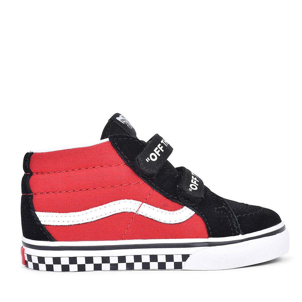 SK8-MID CASUAL LACED HIGH TOP FOR BOYS in RED