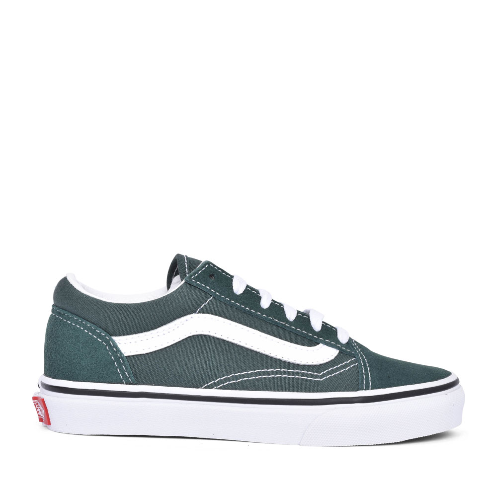 OLD SKOOL CASUAL LACED TRAINER FOR BOYS in GREEN