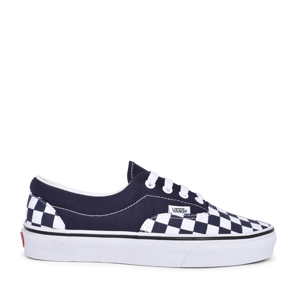 ERA CHECKERBOARD LACED TRAINER FOR LADIES in NAVY