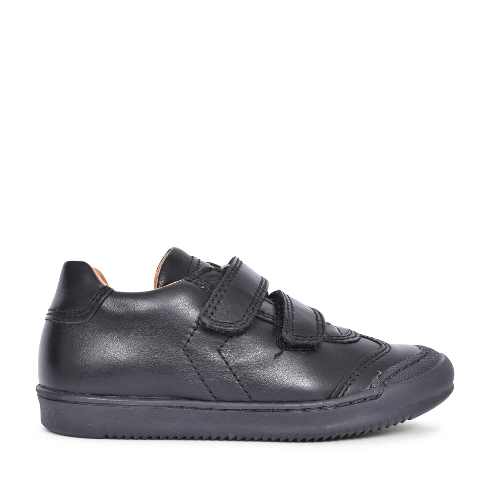 G3130133 LEATHER VELCRO SHOE FOR BOYS in BLACK