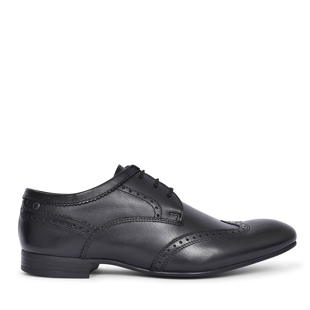 SL02 PURCELL LACED BROGUE SHOE FOR MEN in BLACK