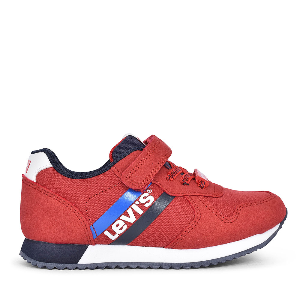 DCL131 SPRINGFIELD MINI VELCRO TRAINER FOR BOYS in RED