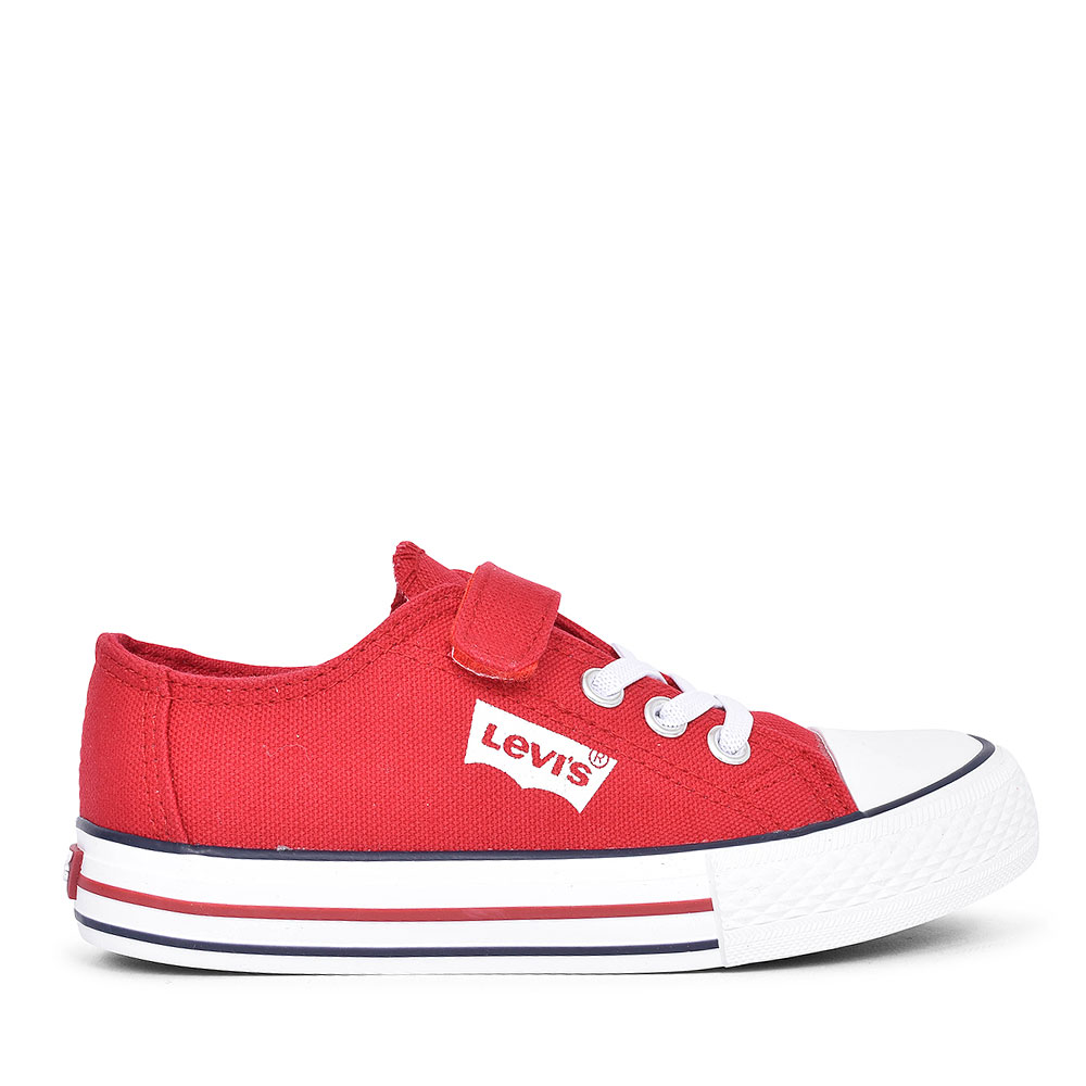 DCL127 TRUCKER LOW CANVAS SHOE FOR BOYS in RED