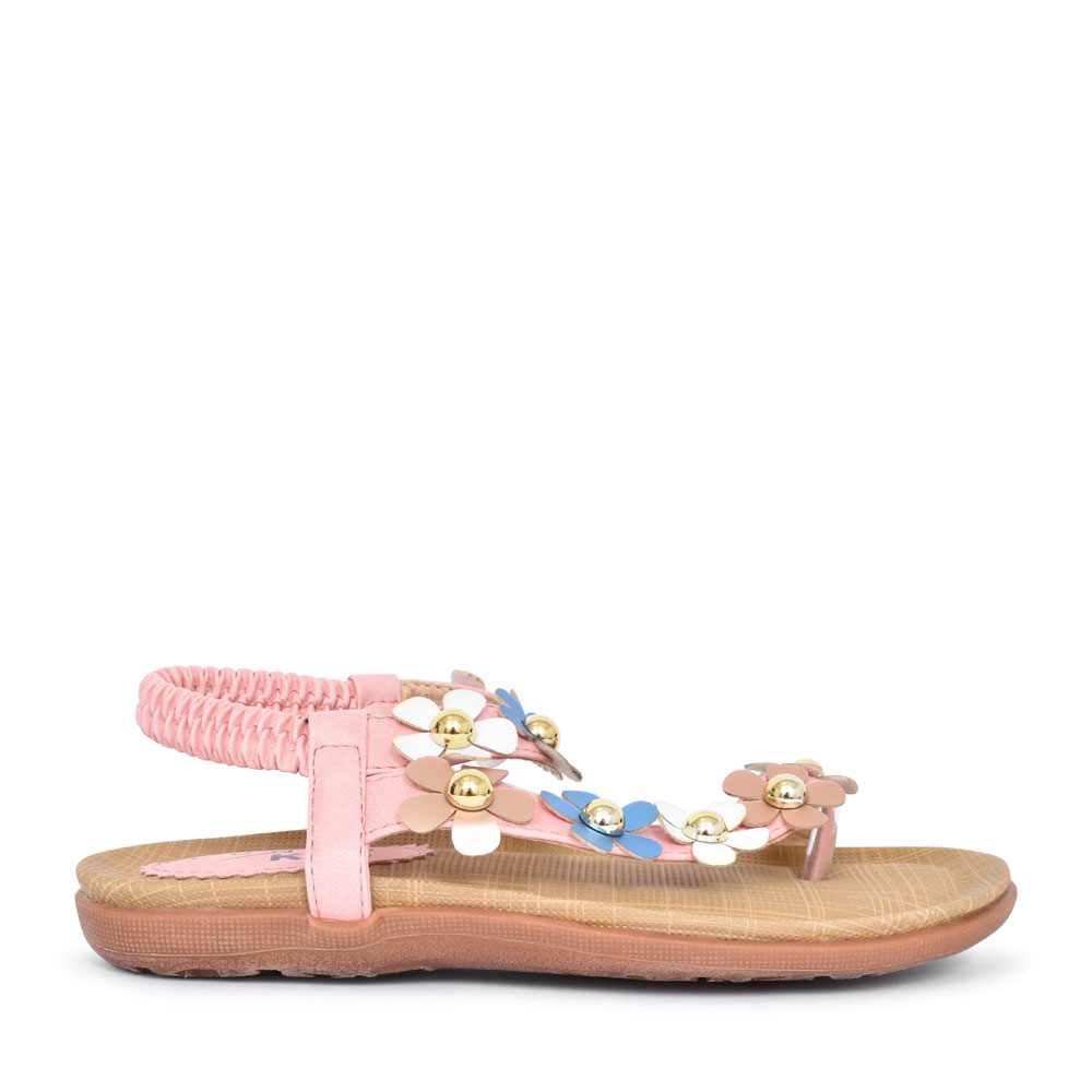 JCH006 PRIMROSE FLORAL SANDAL FOR GIRLS in PINK