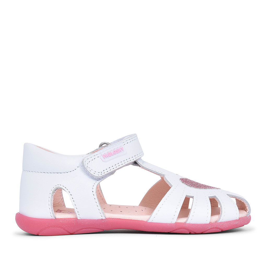 045907 CUT OUT SHOE FOR GIRLS in WHITE