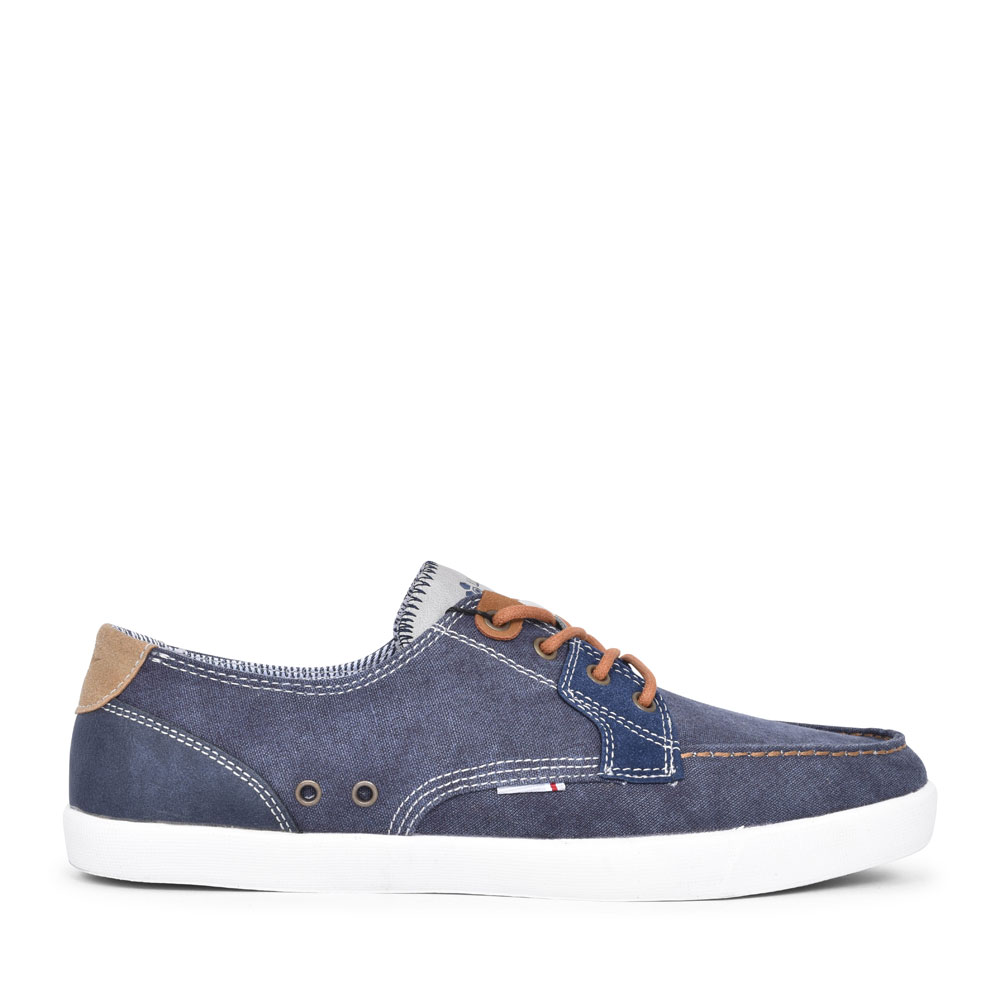 PORTER CANVAS LACED SHOE FOR MEN in NAVY