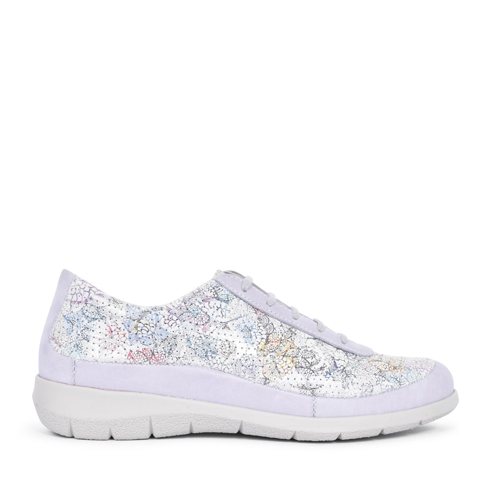LIBBY FLORAL LACED SHOE FOR LADIES in MULTI-COLOUR