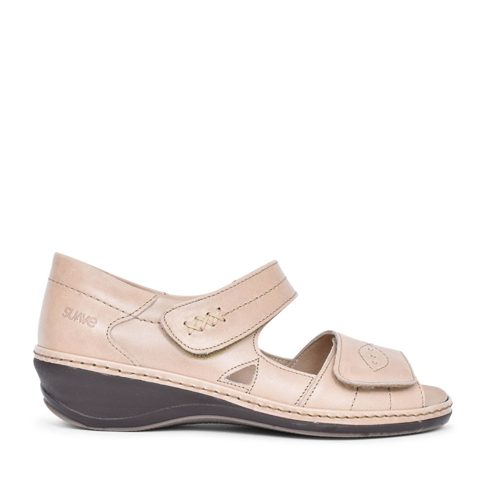 HILDA CASUAL VELCRO SANDAL FOR LADIES in BEIGE