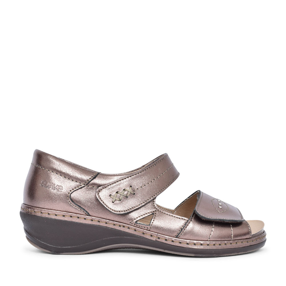 HILDA CASUAL VELCRO SANDAL FOR LADIES in BRONZE