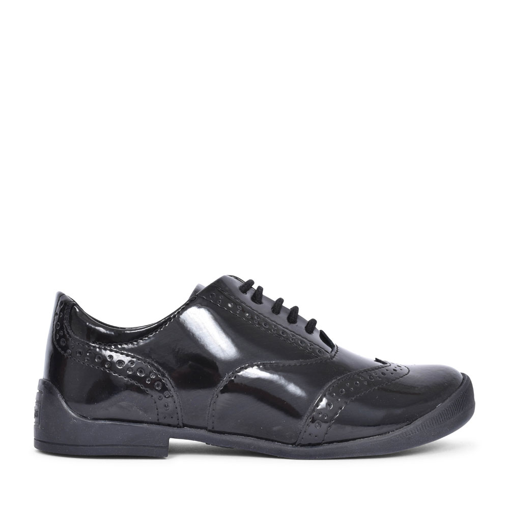 BRIDIE BROGUE JF BLACK PATENT BROGUE SHOE FOR GIRLS in BLK PATENT