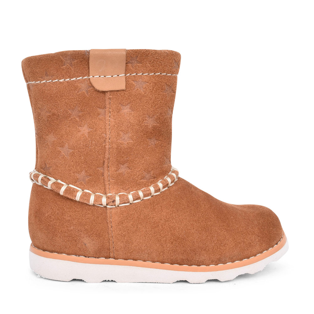 GIRLS CROWN PIPER SUEDE CALF BOOT in KIDS F FIT