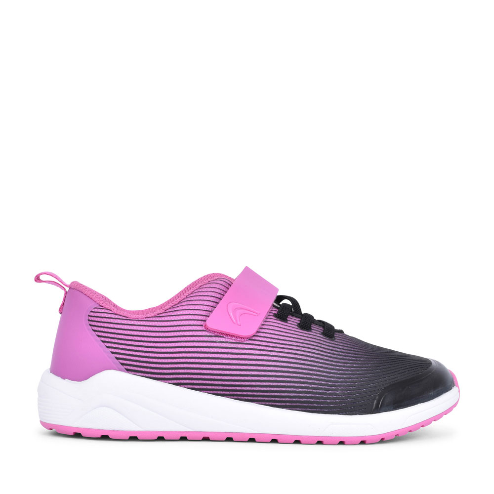 AEON PACE PINK TEXTILE VELCRO TRAINER FOR GIRLS in KIDS F FIT