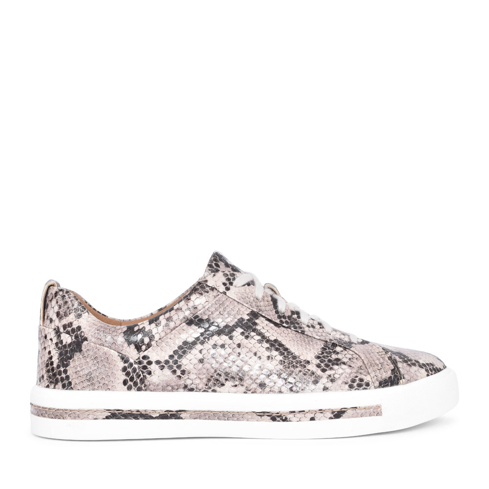 UN MAUI LACE LEATHER D FIT LACED TRAINER FOR LADIES in ANIMAL
