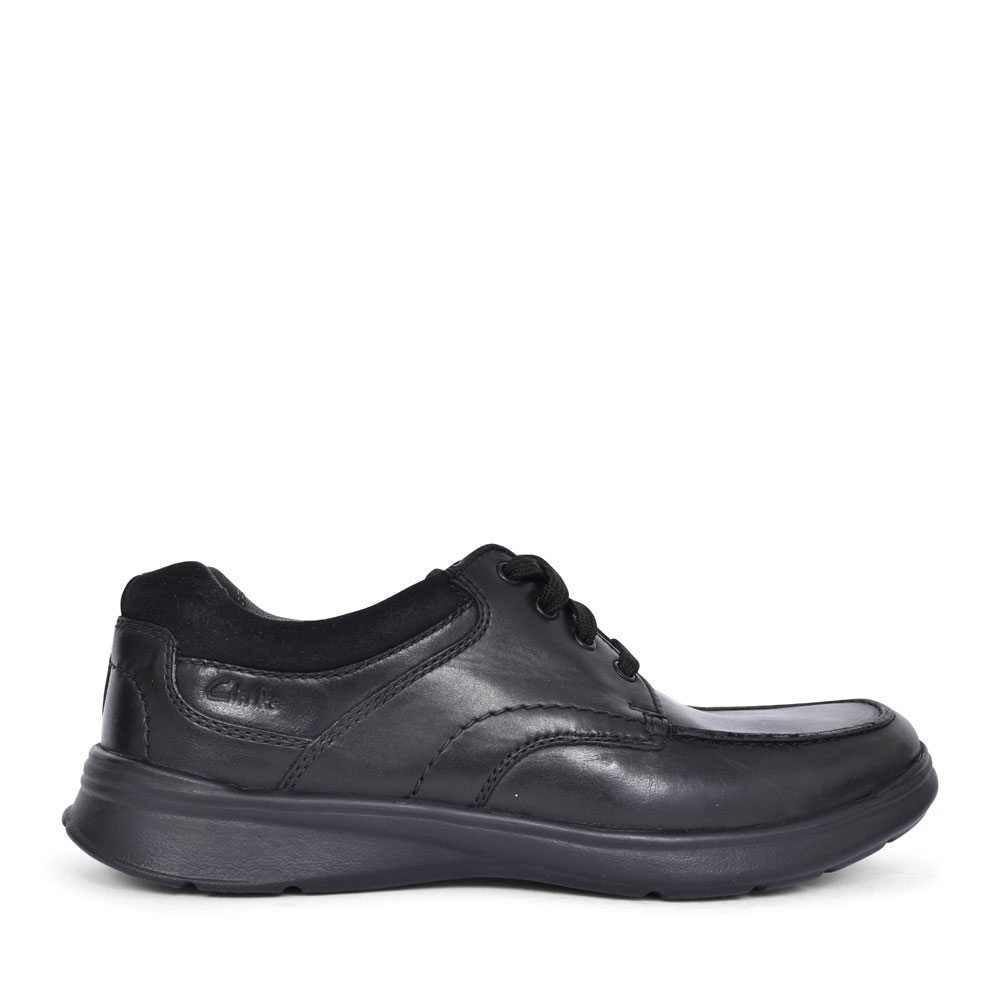 COTRELL EDGE LEATHER H FIT LACED SHOE FOR MEN in BLK LEATHER