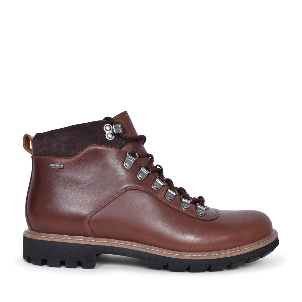 BATCOMBEALP LEATHER G FIT ANKLE BOOT FOR MEN in BROWN