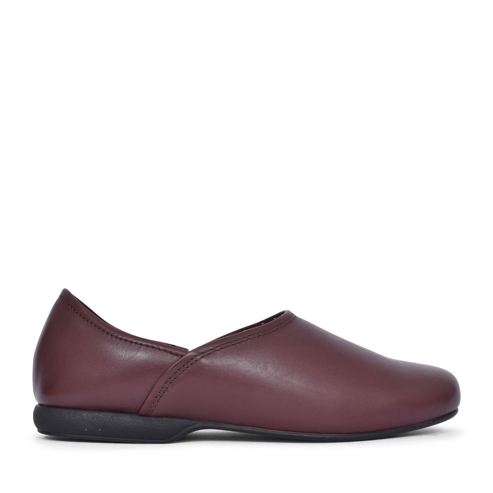 HARSTON ELITE LEATHER G FIT SLIPPER FOR MEN in BURGANDY