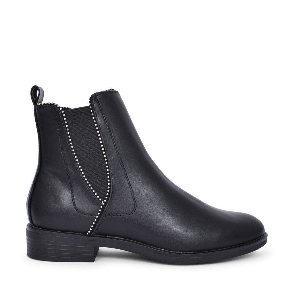 5-25331 EMBELLISHED CHELSEA BOOT FOR LADIES in BLACK