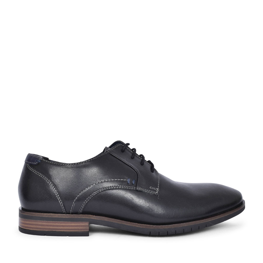 5-13205 LACED OXFORD SHOE FOR MEN in BLACK