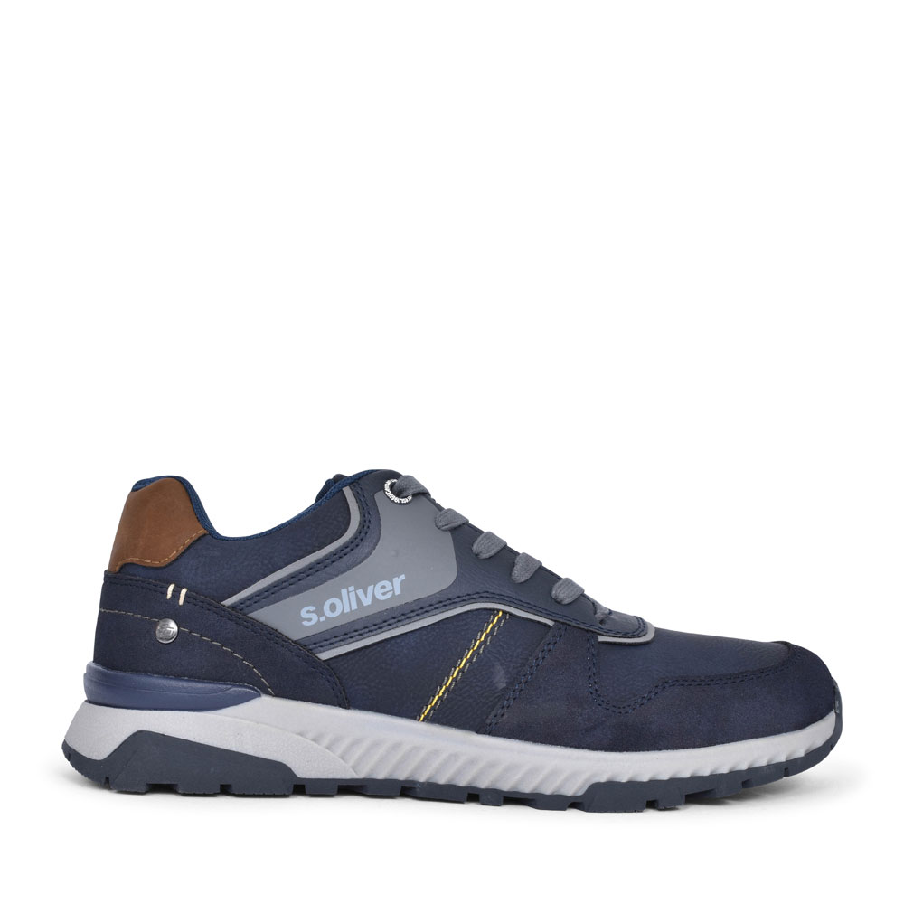 5-13618 CASUAL LACED SHOE FOR MEN in NAVY