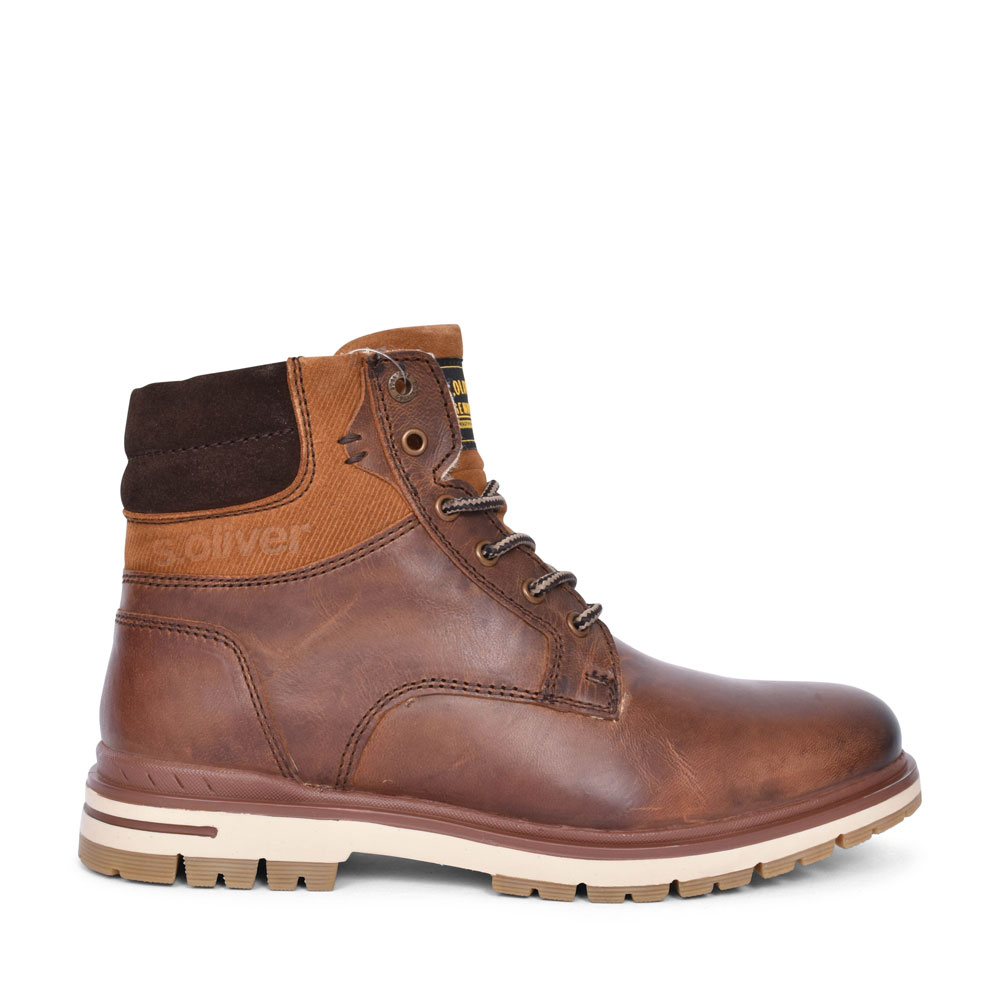 5-16208 CASUAL LACED ANKLE BOOT FOR MEN in TAN