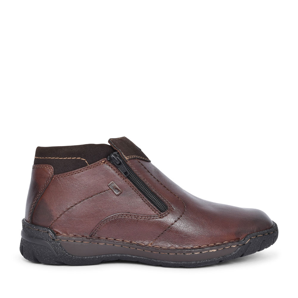 B0380 CASUAL ZIP UP ANKLE BOOK FOR MEN in BROWN