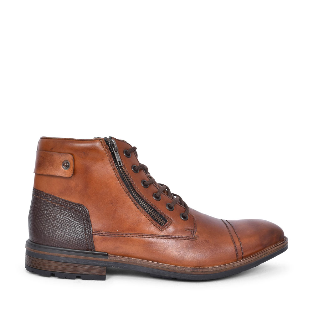 F1340 CASUAL LACED ANKLE BOOT FOR MEN in TAN