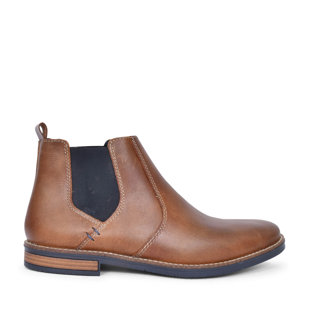 33554 CASUAL SLIP ON CHELSEA BOOT FOR MEN in BROWN
