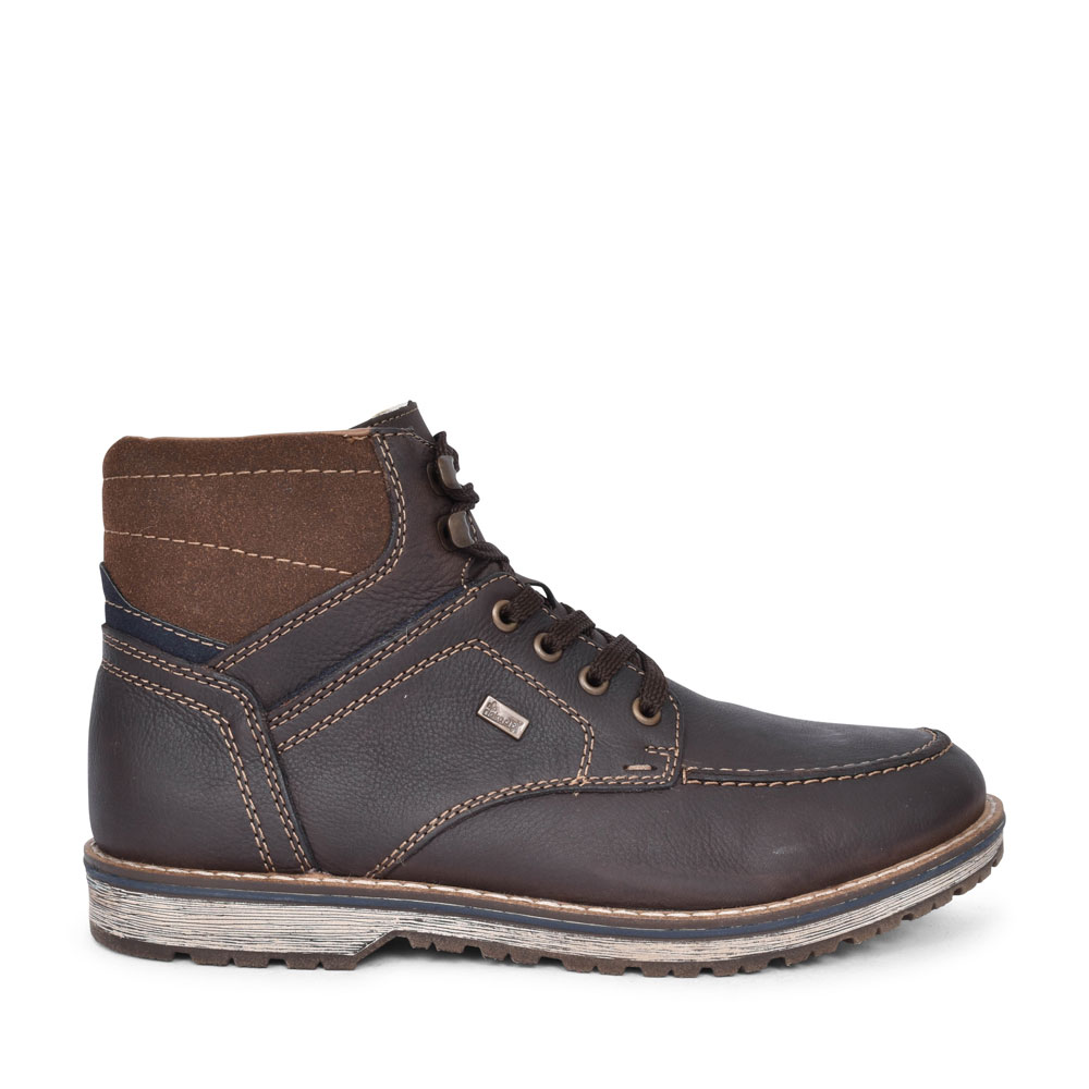 39220 TEX CASUAL LACED ANKLE BOOT FOR MEN in BROWN