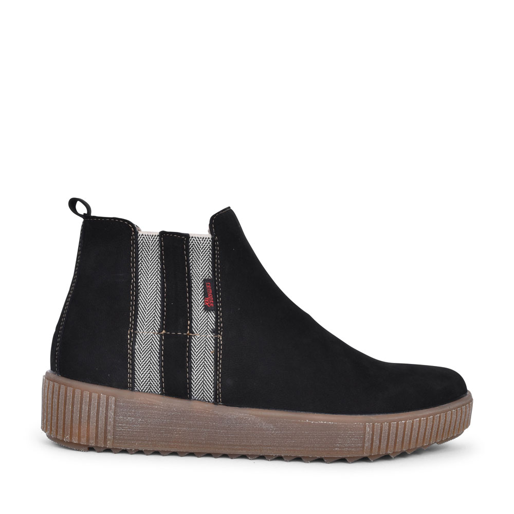 R7989 TEX CASUAL ANKLE BOOT FOR LADIES in BLACK